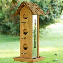 Perky-Pet® Tin Jay Wood Wild Bird Feeder