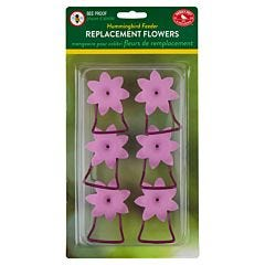 Perky-Pet® Replacement Pink Petunia Flower Feeding Ports and Perches - 6 Pack