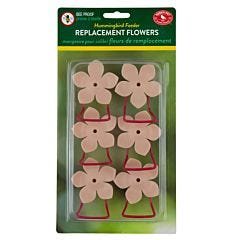 Perky-Pet® Replacement Peach Phlox Flower Feeding Ports and Perches - 6 Pack