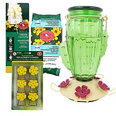 Perky-Pet® Cactus Top-Fill Glass Hummingbird Feeder Kit